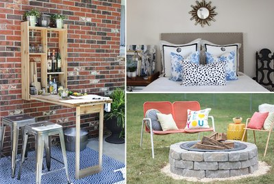 a Murphy Bar, a headboard and a fire pit.