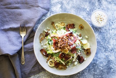 The Only Steakhouse-Style Chopped Salad Recipe You Need