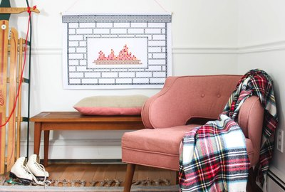 Faux Fireplace Tapestry Printable