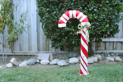 pvc candy cane decor