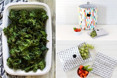 kale, lunch bag and snack bags.