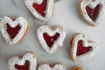 These cookies are a romantic treat for Valentine's Day!