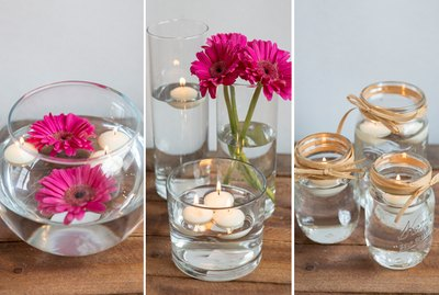 3 Floating Candle Centerpiece DIYs