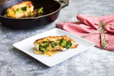 Broccoli and Cheese Stuffed Chicken