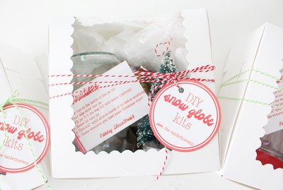 Cute Holiday Gift Idea: DIY Snow Globe Kit