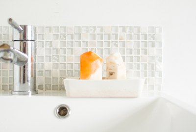 Two Tone Concrete Soap Dish