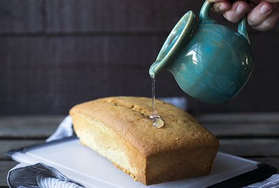Glaze made from granulated sugar