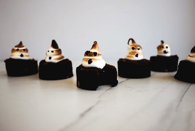 These spooky Ghost Brownies are delicious and perfect for any Halloween celebration.