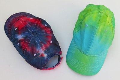 Tie-dye baseball cap.