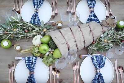 modern harvest thanksgiving tablescape