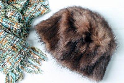 finished fur hat