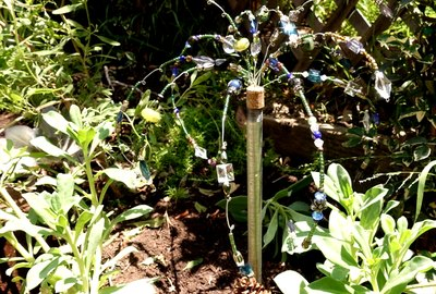 How to Make Your Own Glass Beaded Garden Sparklers