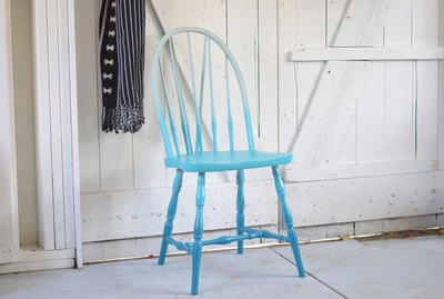 Turn a basic wooden chair into chic and modern seating with this ombre paint effect.