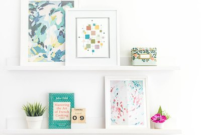 Make your own mid-century inspired art with paint chips.