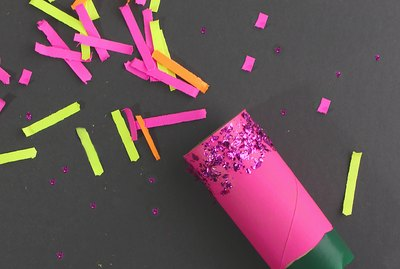 toilet paper tube party popper confetti balloon