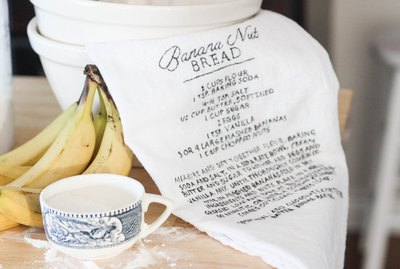 Recipe towel art