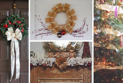 Sinamay mesh is a versatile fabric that is perfect for Christmas decor crafts.