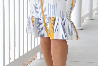 easy knit pencil ruffle skirt DIY