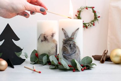 DIY Picture Candles