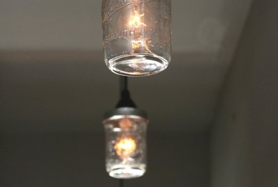 How to Make a Lighting Fixture Out of Mason Jars