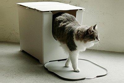 Chic kitty litter box