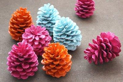 painted cones