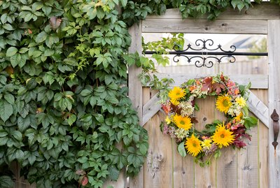 Fresh flower fall wreath