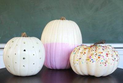 three ways to decorate pumpkins