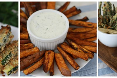 baked veggie fries 3 ways