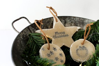 DIY No-Bake Salt Dough Ornaments