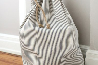 How to Sew a Drawstring Laundry Bag