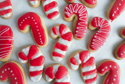 These Candy Cane Sugar Cookies are the perfect Christmas treat!