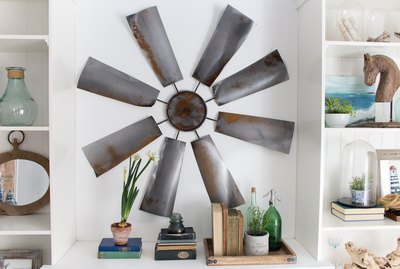 Fixer Upper Art: DIY Windmill Wall Decor