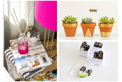 Diffuser, planters, chocolate dipped apples