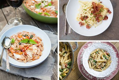 3 easy pasta dishes