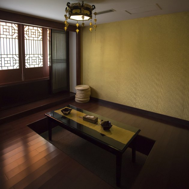 Classical Chinese interior with minimal decoration