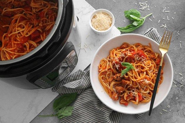 Instant Pot quick spaghetti
