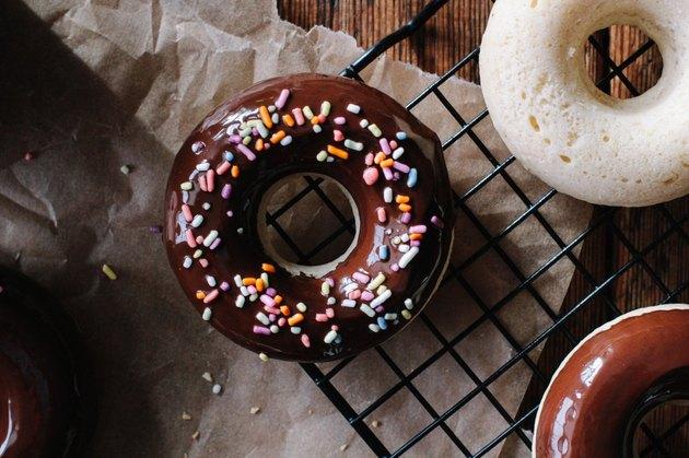 Baked Chocolate Glazed Doughnuts Recipe