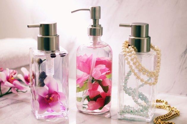 floral liquid soap