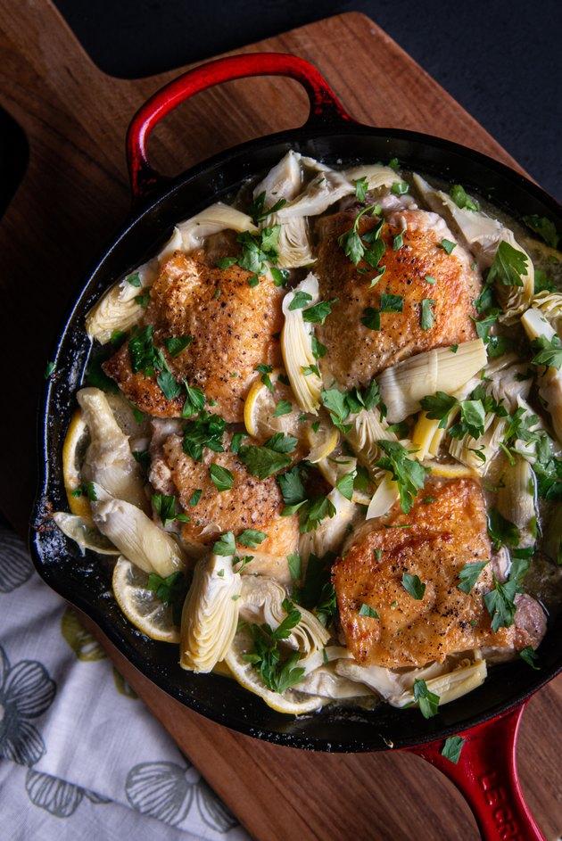 Lemon Artichoke Skillet Chicken Recipe