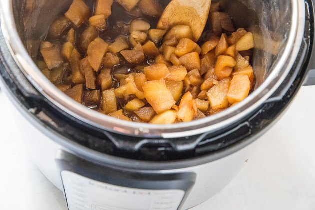 Cooked apples in an Instant Pot