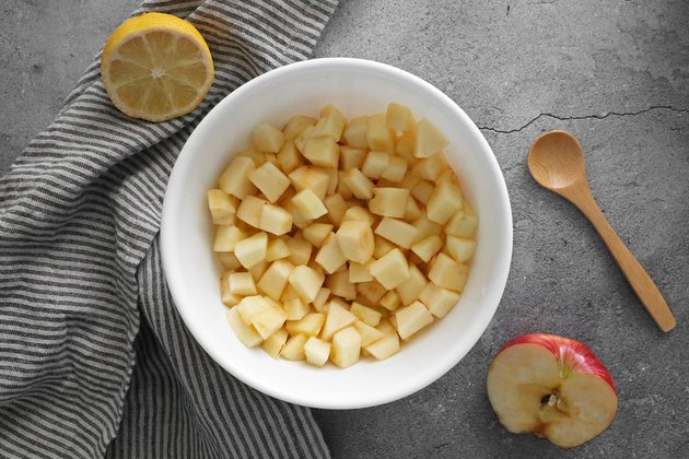 Toss the apples with lemon juice