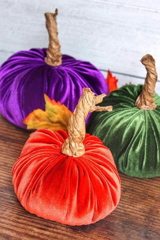 velvet pumpkins