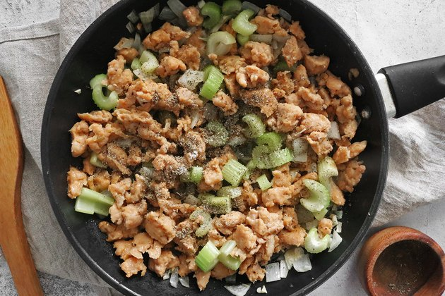 Cook sausage, onion and celery