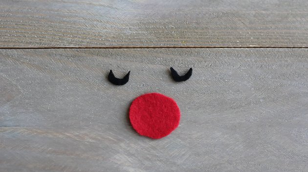 Eyes and nose cut out form felt