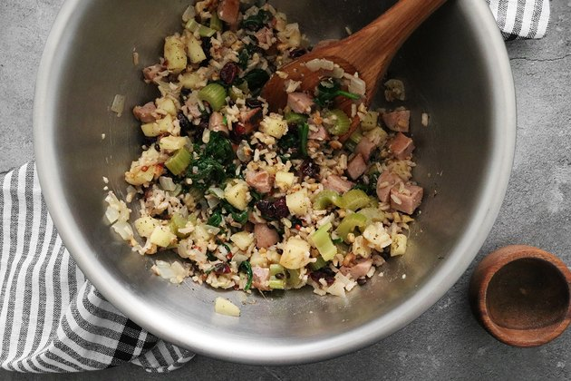 Mix stuffing ingredients