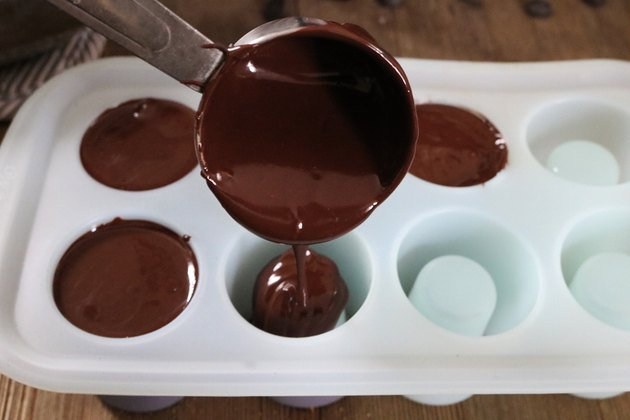 Pour melted chocolate