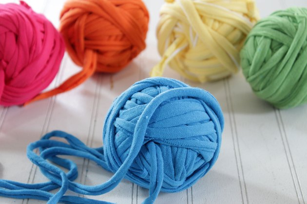 Instead of throwing away those old, unwanted t-shirts, turn them into yarn.