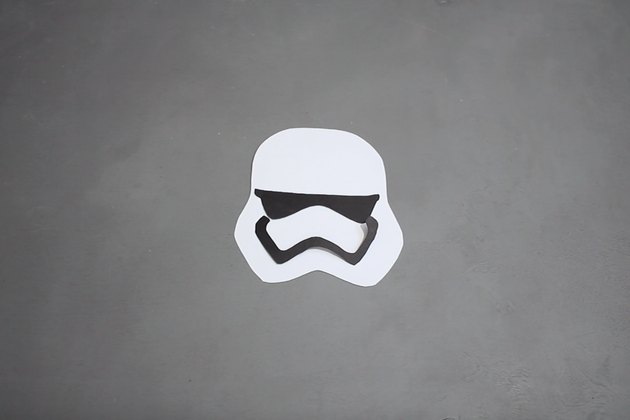 stormtrooper template pieces cut from card stock