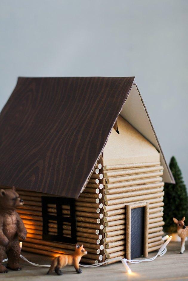 DIY Log Cabin Gift Box